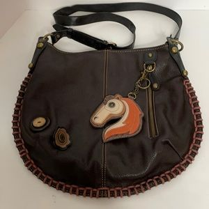 Chala Bag Whip Stitched Horse Hobo Key Ring Vegan